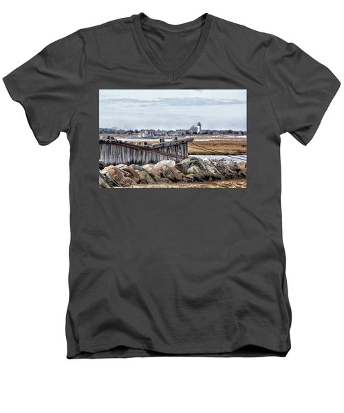 View From Mill Creek - Cold Men's V-Neck T-Shirt by Constantine Gregory