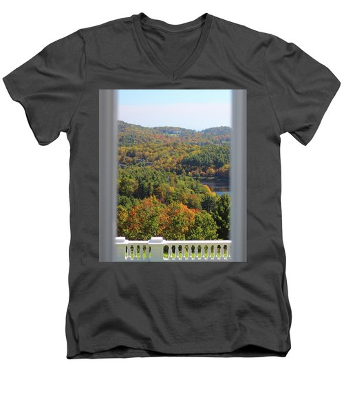 View From Moses Cone 2014b Men's V-Neck T-Shirt