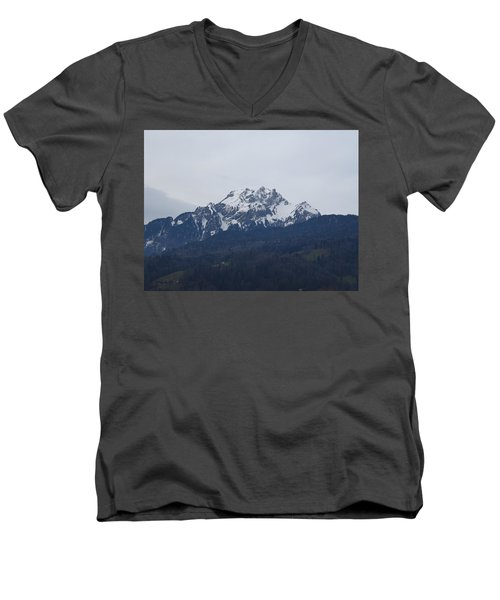 View From My Art Studio - Pilatus - March 2018 Men's V-Neck T-Shirt