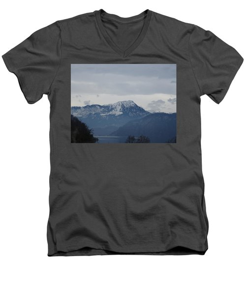 View From My Art Studio - Stanserhorn - March 2018 Men's V-Neck T-Shirt
