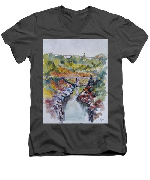 View From No Hands Bridge Men's V-Neck T-Shirt by William Reed