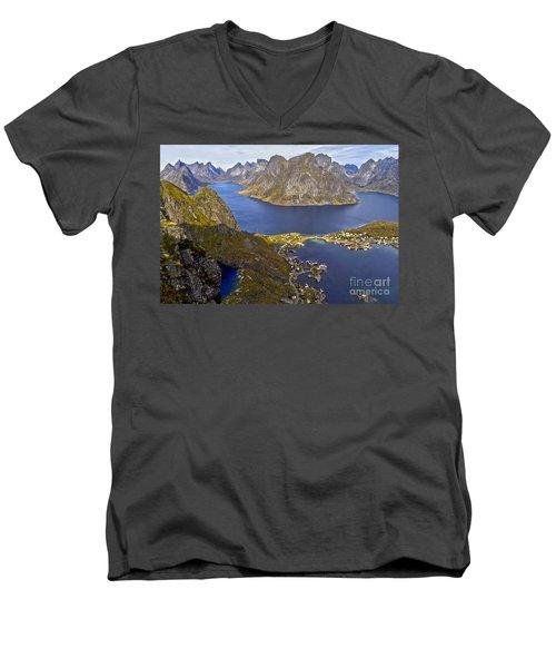 View From Reinebringen Men's V-Neck T-Shirt by Heiko Koehrer-Wagner