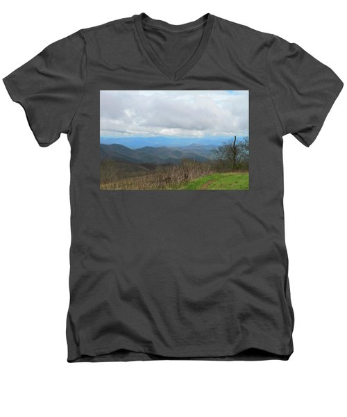 View From Silers Bald 2015d Men's V-Neck T-Shirt