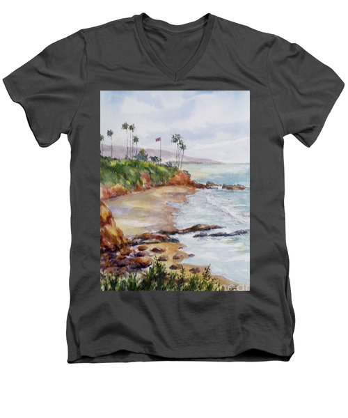 View From The Cliff Men's V-Neck T-Shirt by William Reed