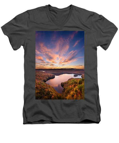 View From The Ledge Men's V-Neck T-Shirt