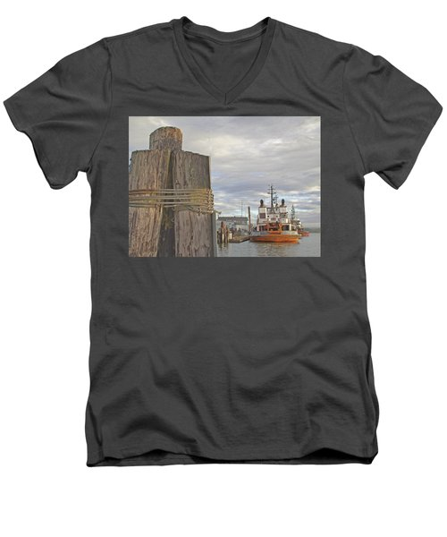 View From The Pilings Men's V-Neck T-Shirt by Suzy Piatt