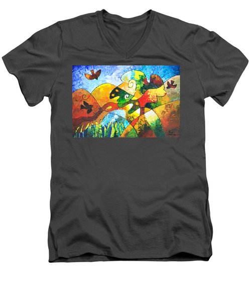 View From Valley Road Men's V-Neck T-Shirt