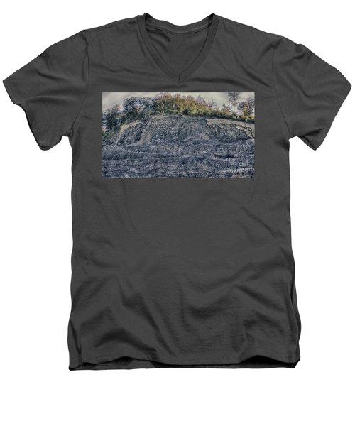 View Of A Quarry Men's V-Neck T-Shirt