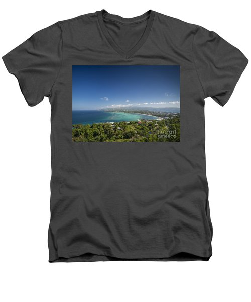 View Of Boracay Island Tropical Coastline In Philippines Men's V-Neck T-Shirt