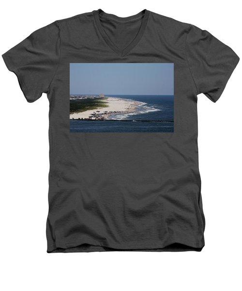 View Of Brigantine Men's V-Neck T-Shirt