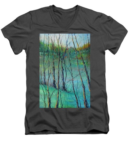View Of Nature's Canvas Men's V-Neck T-Shirt by Robin Miller-Bookhout