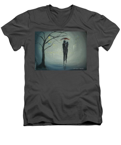 View Of The City Men's V-Neck T-Shirt