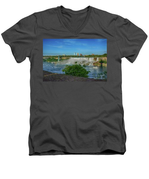 View Of Usa From Canada Men's V-Neck T-Shirt