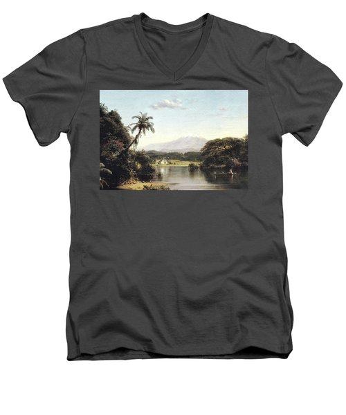 View On The Magdalena River Men's V-Neck T-Shirt