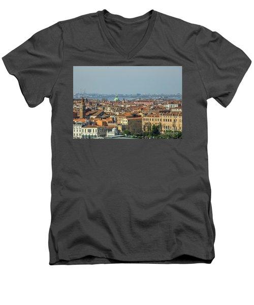 View On Venice Men's V-Neck T-Shirt by Patricia Hofmeester