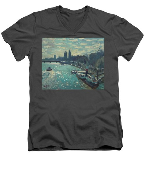 View To Westminster London Men's V-Neck T-Shirt