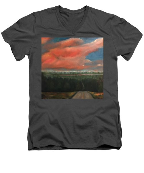 View To Yell County Men's V-Neck T-Shirt