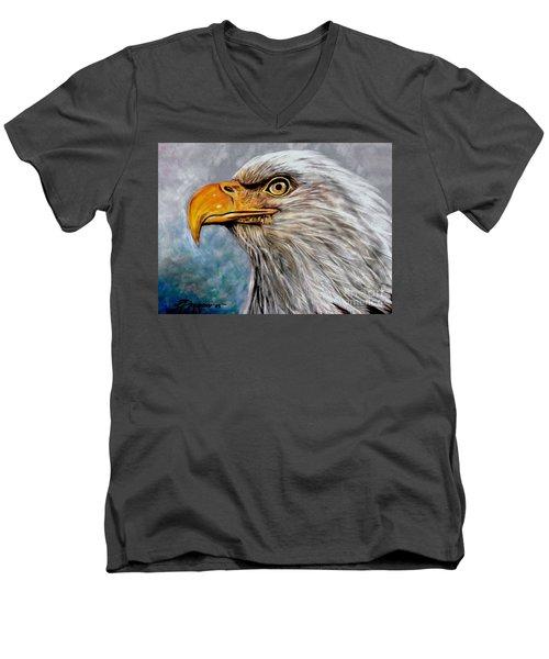 Vigilant Eagle Men's V-Neck T-Shirt