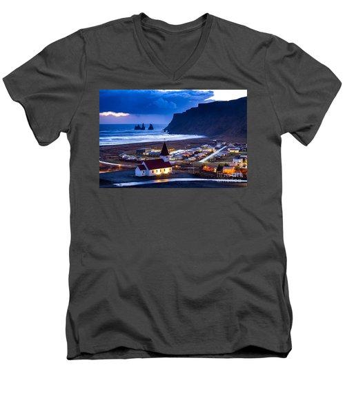 Vik Iceland Men's V-Neck T-Shirt
