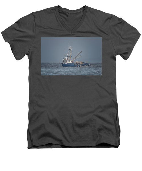 Men's V-Neck T-Shirt featuring the photograph Viking Fisher 4 by Randy Hall