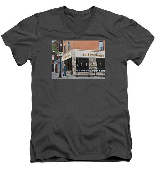 Villa Wellington In Verdun Men's V-Neck T-Shirt by Reb Frost