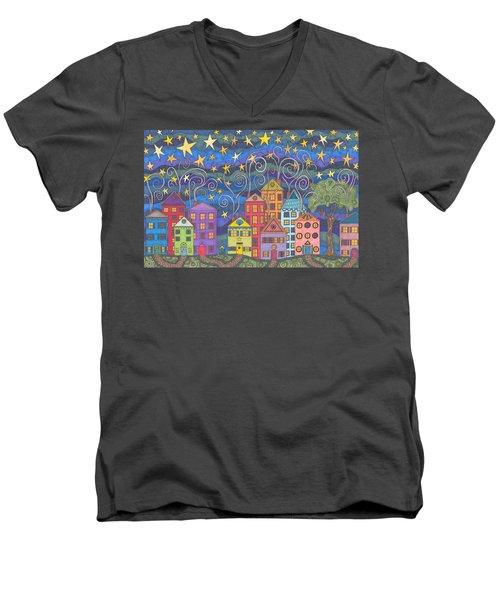 Village Lights Men's V-Neck T-Shirt