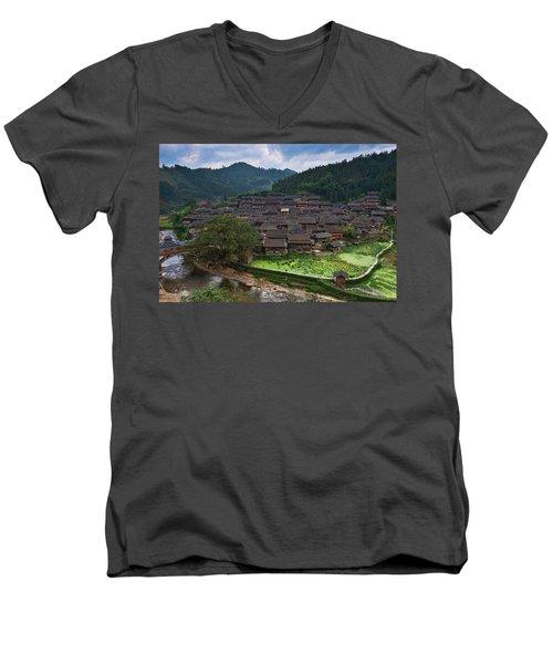 Village Of Joy Men's V-Neck T-Shirt