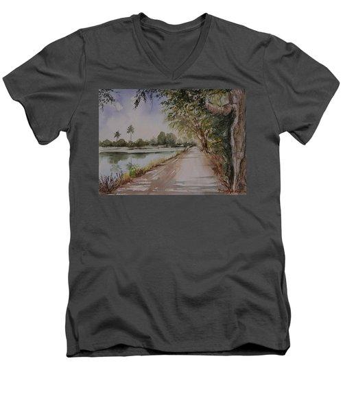 Village Road Men's V-Neck T-Shirt