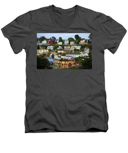 Village View  Sig Men's V-Neck T-Shirt