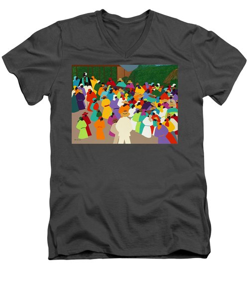 Ville Bonheur Men's V-Neck T-Shirt