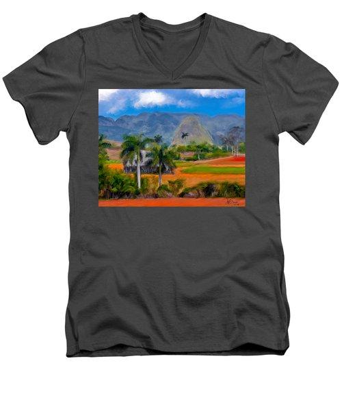 Vinales Valley. Cuba Men's V-Neck T-Shirt