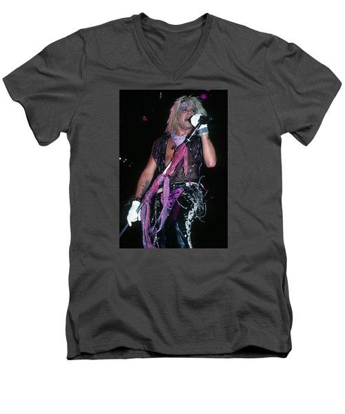Vince Neil Of Motley Crue Men's V-Neck T-Shirt