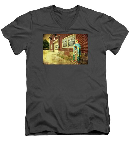 Men's V-Neck T-Shirt featuring the photograph Vincent Van Gas by Trina Ansel