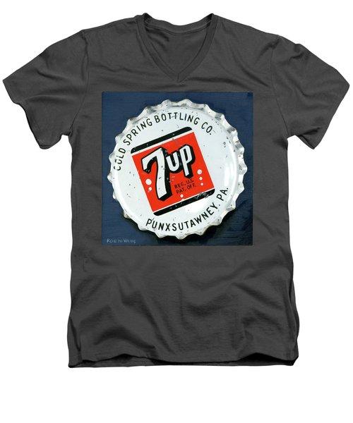 Vintag Bottle Cap, 7up Men's V-Neck T-Shirt