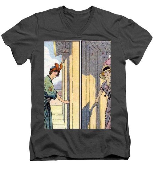 Vintage Art, Glamour Image Men's V-Neck T-Shirt