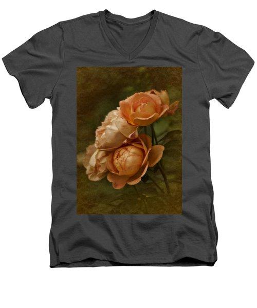 Vintage Aug Roses Men's V-Neck T-Shirt
