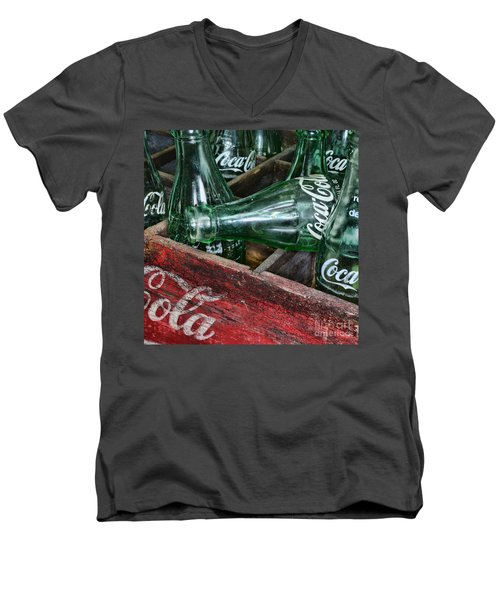 Vintage Coke Square Format Men's V-Neck T-Shirt