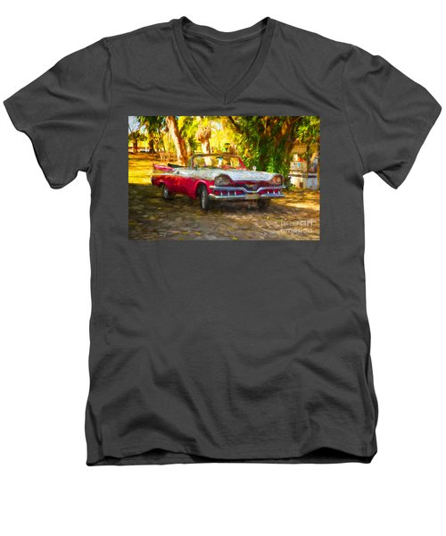 Vintage Dodge Custom Royal 1957 Men's V-Neck T-Shirt