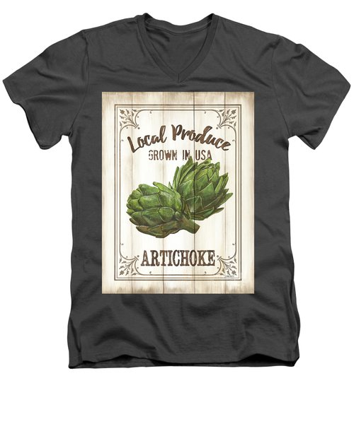 Vintage Fresh Vegetables 2 Men's V-Neck T-Shirt