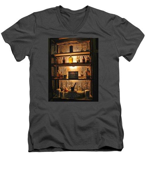 Vintage Medicine Cabinet Men's V-Neck T-Shirt