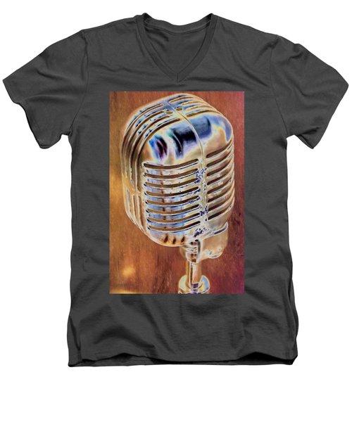Vintage Microphone Men's V-Neck T-Shirt