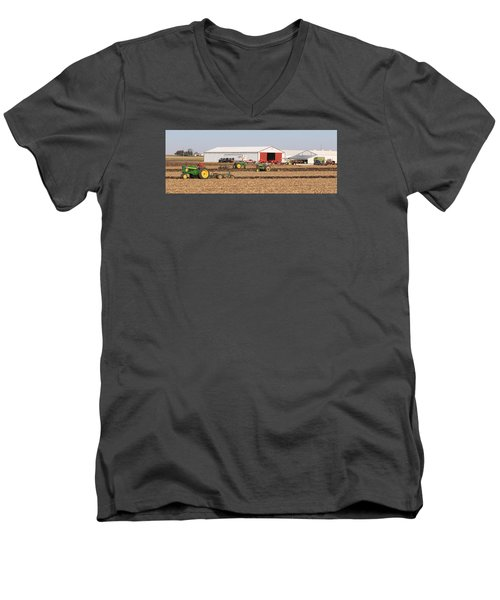 Vintage Plowing In Griswold Iowa Men's V-Neck T-Shirt