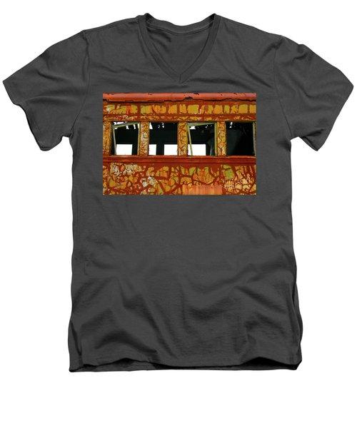 Vintage Railcar Men's V-Neck T-Shirt