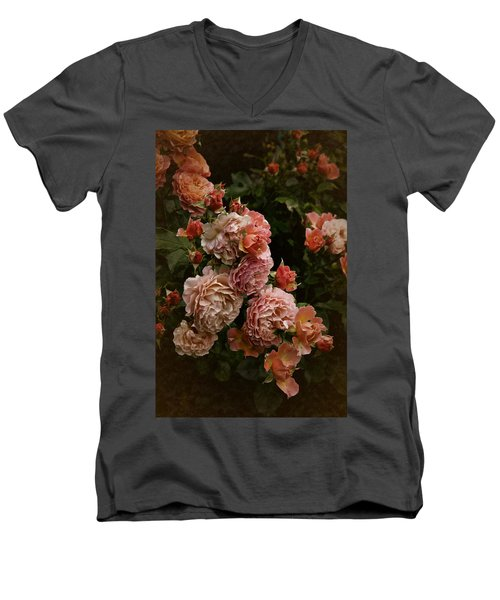 Vintage Roses, 6.17 Men's V-Neck T-Shirt