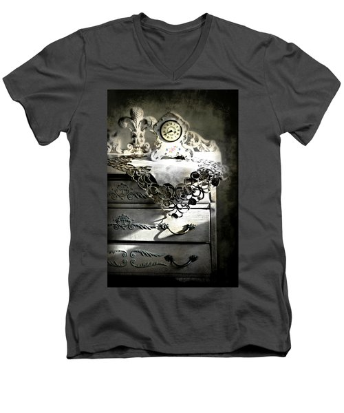 Men's V-Neck T-Shirt featuring the photograph Vintage Time by Diana Angstadt