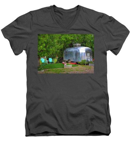 Vintage Trailer Men's V-Neck T-Shirt