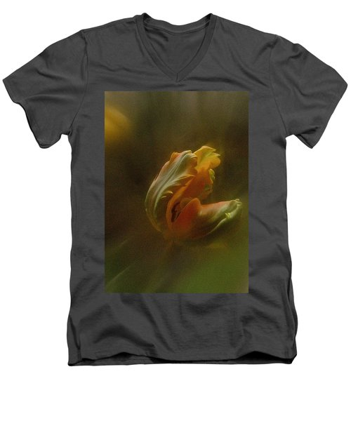 Men's V-Neck T-Shirt featuring the photograph Vintage Tulip March 2017 by Richard Cummings