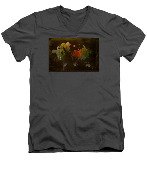 Vintage World Men's V-Neck T-Shirt by Randi Grace Nilsberg
