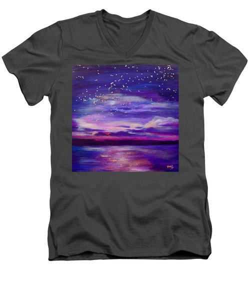 Violet Evening Men's V-Neck T-Shirt