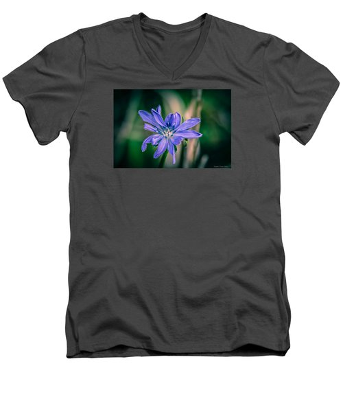 Men's V-Neck T-Shirt featuring the photograph Violet by Michaela Preston